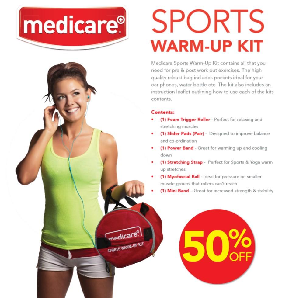 Medicare Sports Warm Up Kit Offer