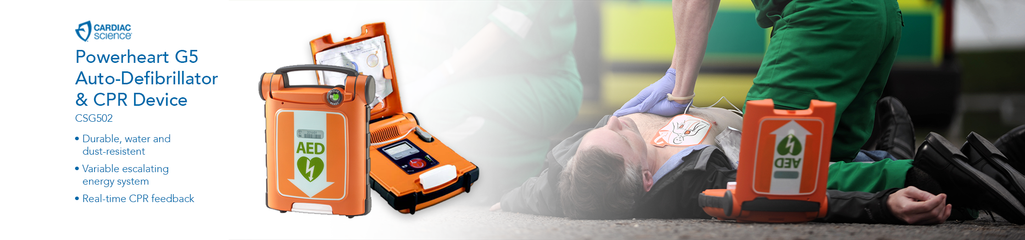 Powerheart G5 defibrillator, available for purchase from Fleming Medical Ireland