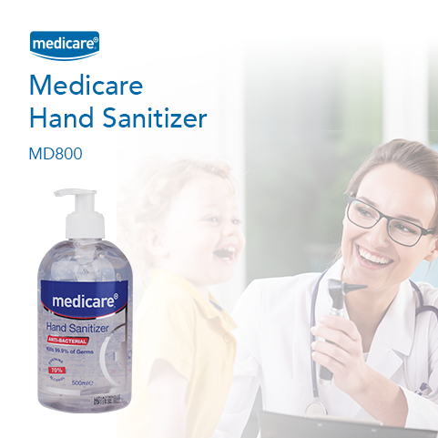 Medicare hand sanitiser now available for delivery