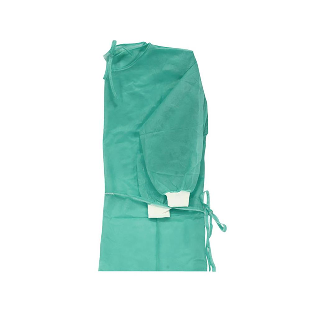 BV DISPOSABLE VISITOR GOWN WITH KNITTED CUFFS (10's)