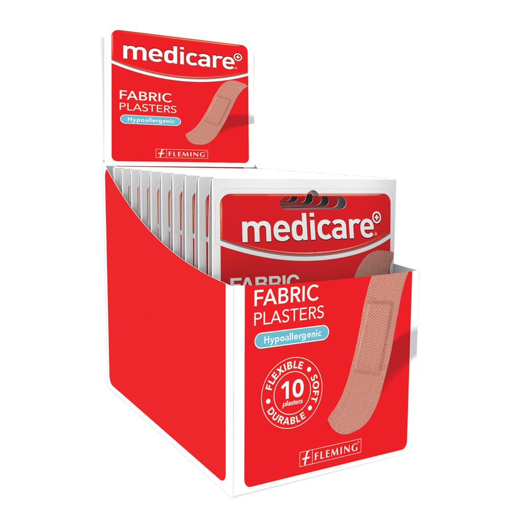 MEDICARE FABRIC PLASTERS 10'S (DISPLAY OF 20)