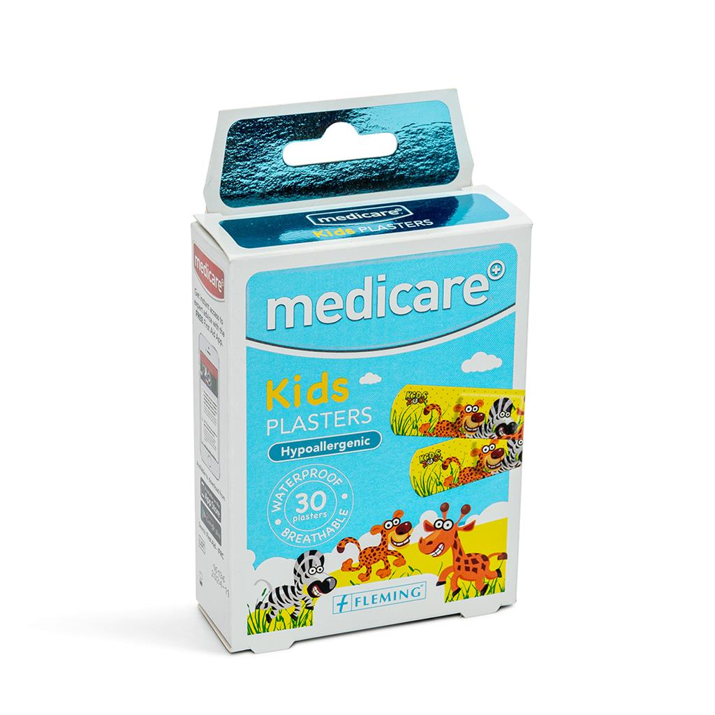 MEDICARE WATERPROOF KIDS PLASTERS 30`S (FUN ZOO) (DISPLAY OF 10)