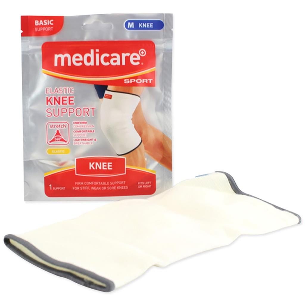 MEDICARE SPORT ELASTICATED KNEE SUPPORT MEDIUM 36CM-41CM