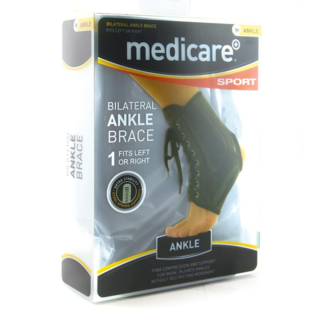 MEDICARE SPORT BI-LATERAL ANKLE BRACE MEDIUM