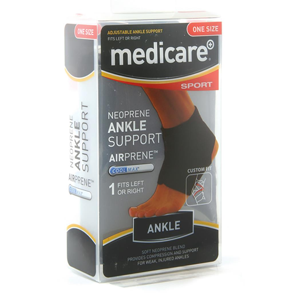 MEDICARE SPORT/PHX NEOPRENE ANKLE SUPPORT ONE SIZE FITS ALL