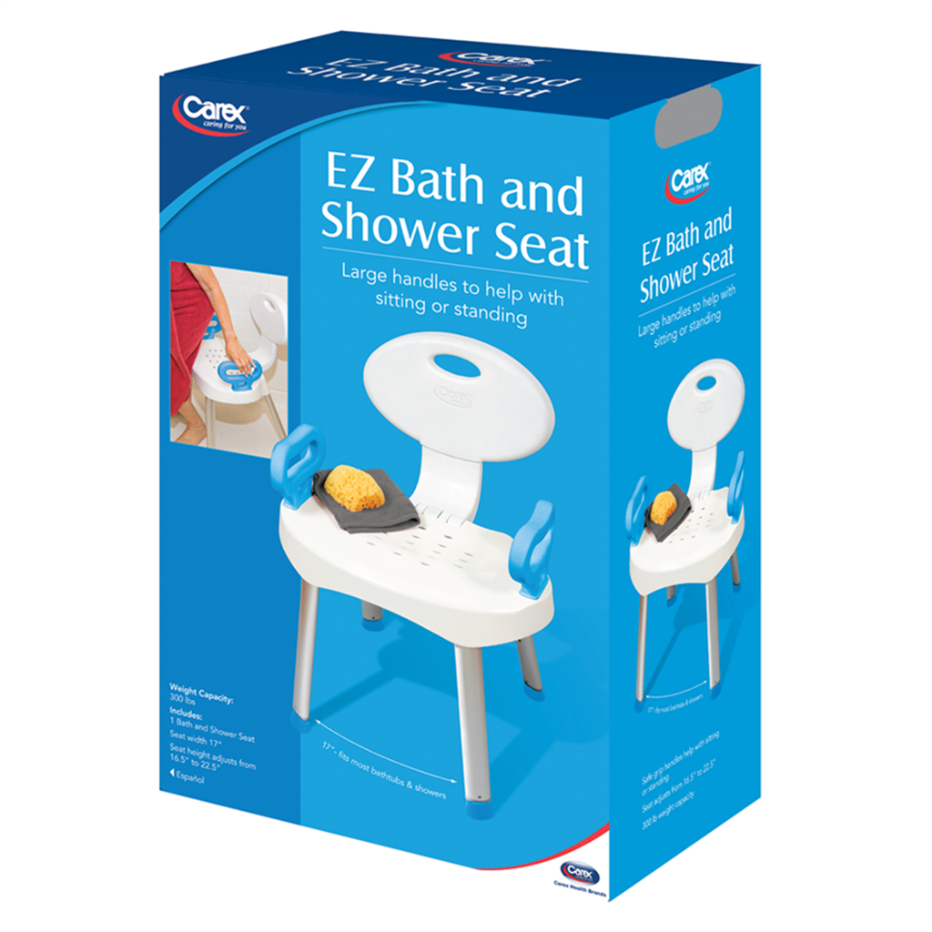 EZ BATH AND SHOWER SEAT WITH HANDLES