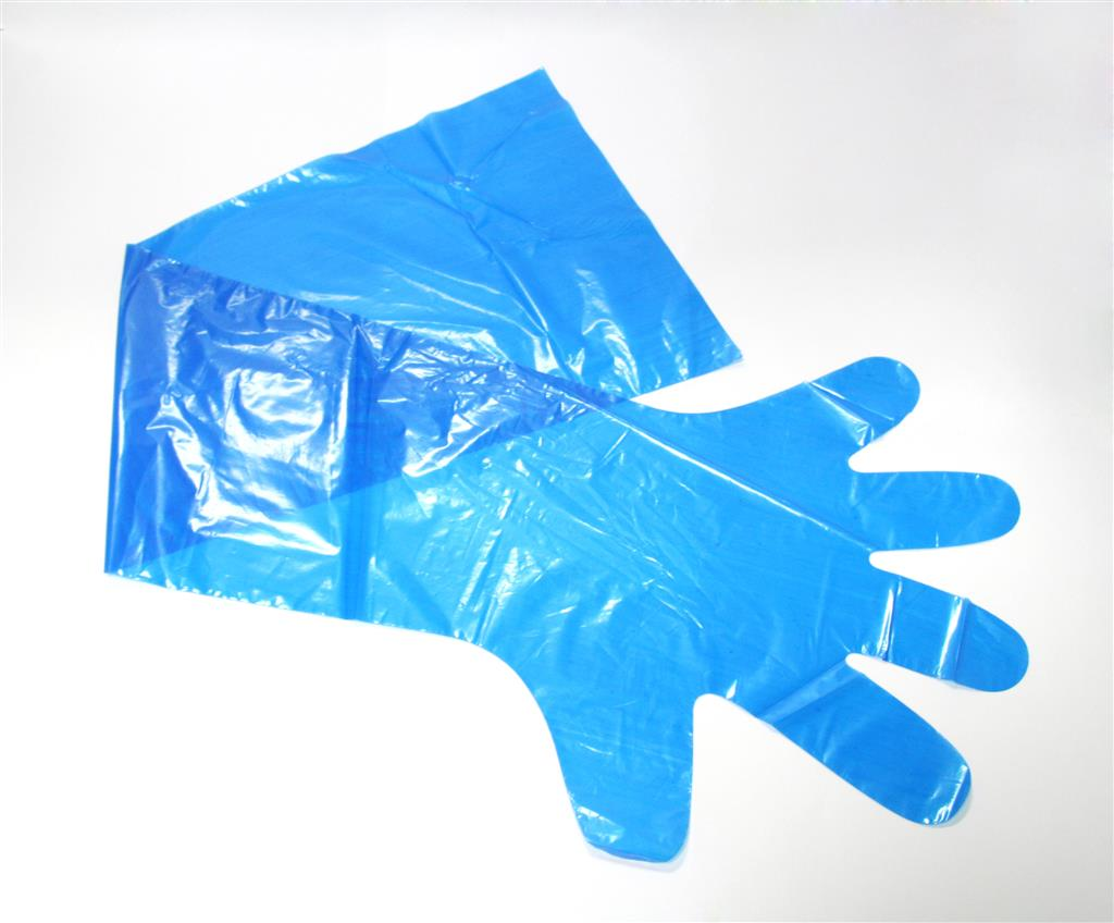 PREMIER POLYTHENE BLUE GAUNTLET N/S FREESIZE (50's)