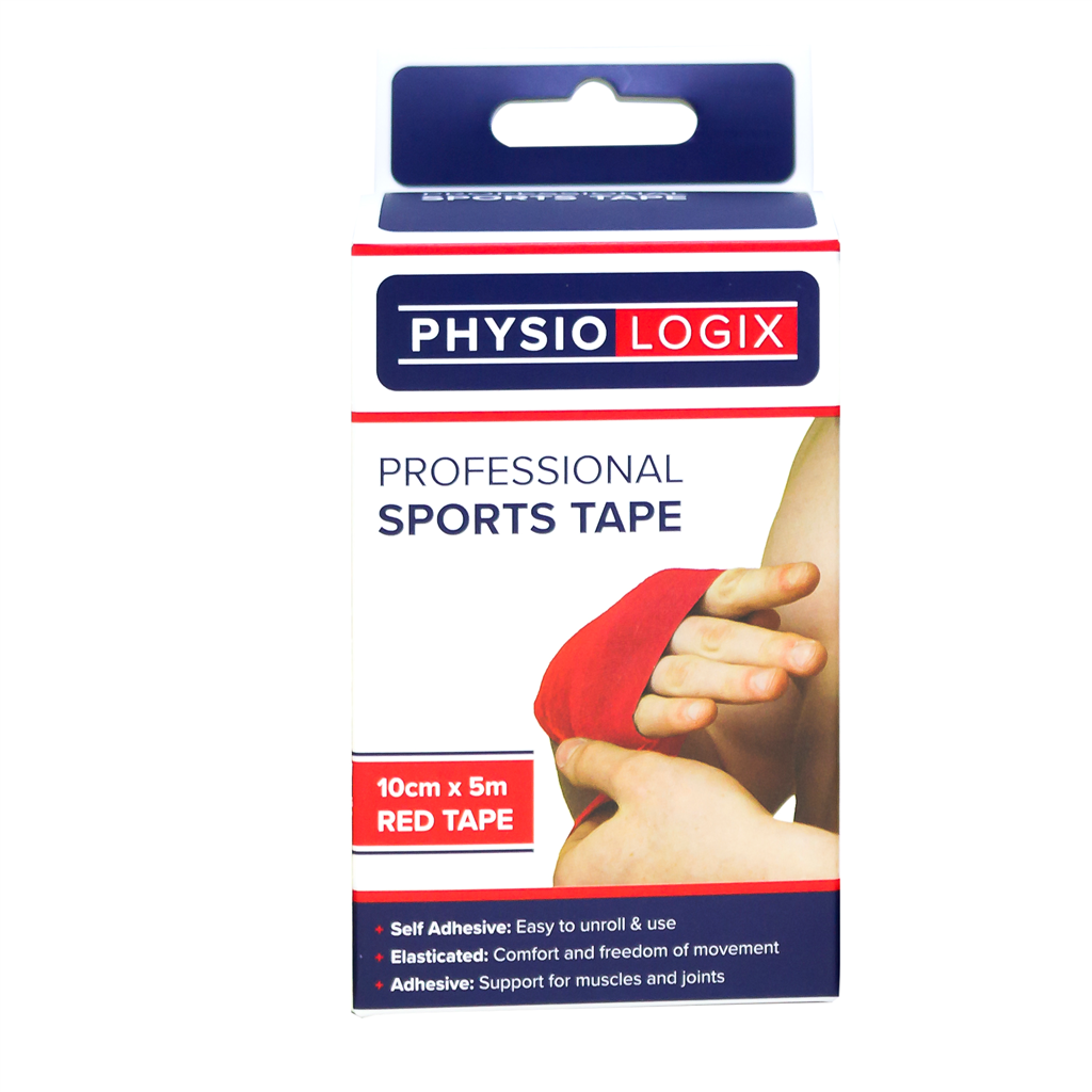 PHYSIOLOGIX SPORTS TAPE 10CM X 5M - RED