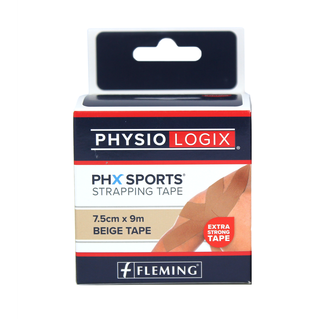 PHYSIOLOGIX PHX STRAPPING TAPE 2.5CM X 9M - TAN