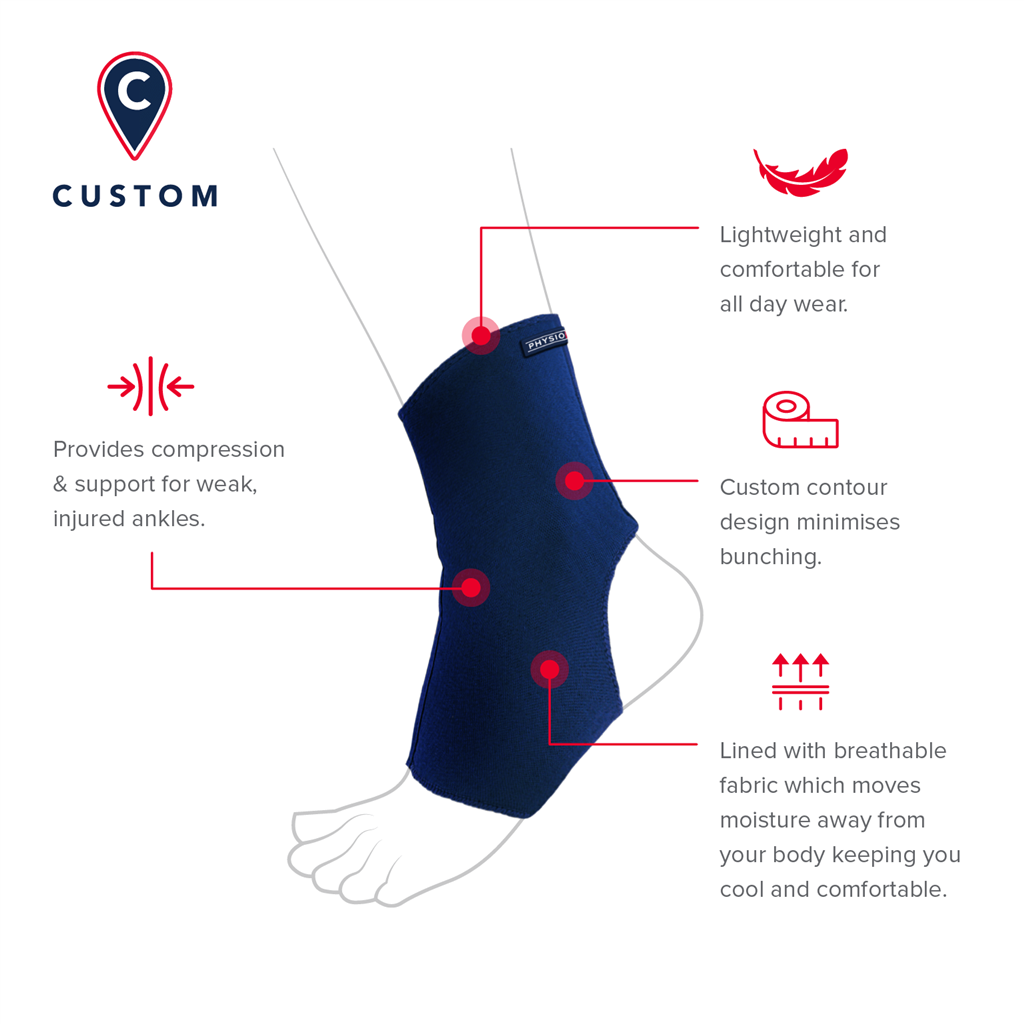 PHYSIOLOGIX CUSTOM FIT ANKLE SUPPORT MEDIUM