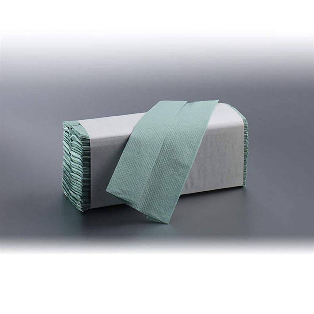 SATINO Z-FOLD HAND TOWELS GREEN 25X23CM (5000's)