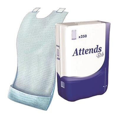 ATTENDS DISPOSABLE BIB REGULAR 250's