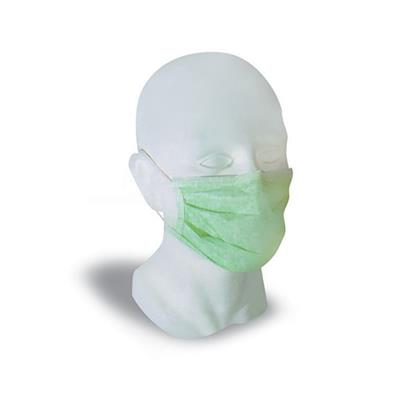 BV SURGEON'S FACE MASK WITH TIES GREEN 50'S