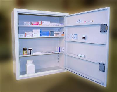 CONTROLLED DRUG CABINET 201 LITRE WALL 865*760*305MM