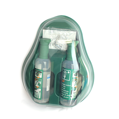 EMERGENCY EYE WASH STATION WITH MIRROR & 2X500ML EYE WASH