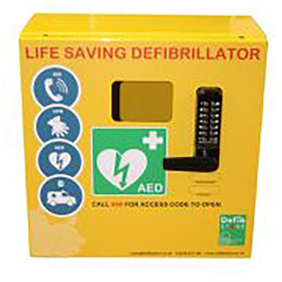 DEFIB STORE 1000 ELECTRICS AND KEYPAD LOCK CABINET