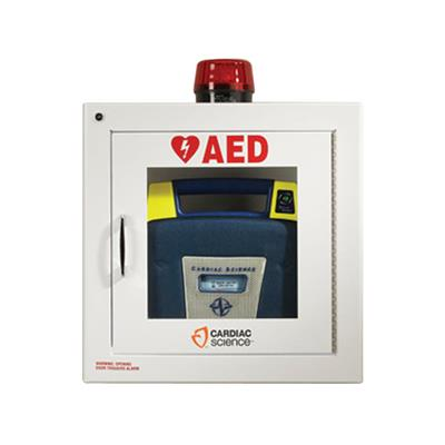 POWERHEART AED CABINET & STROBE LIGHT ALARM SECURITY ENABLE