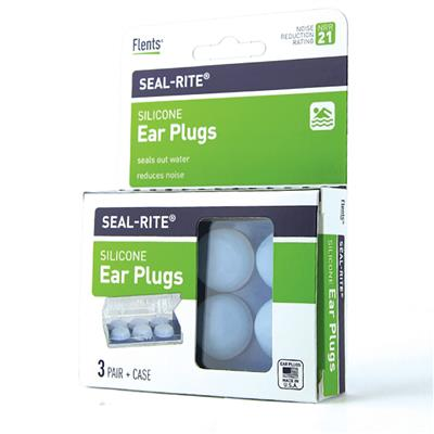 FLENTS 'SEAL-RITE' BLUE SILICONE EAR PLUGS 3 PAIRS