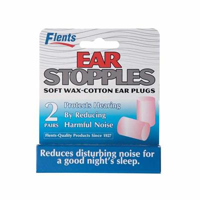 FLENTS 'EAR STOPPLES' WAX COTTON EAR PLUGS 6 PAIRS