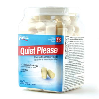 FLENTS  'QUIET PLEASE' FOAM EAR PLUGS 50 PAIRS