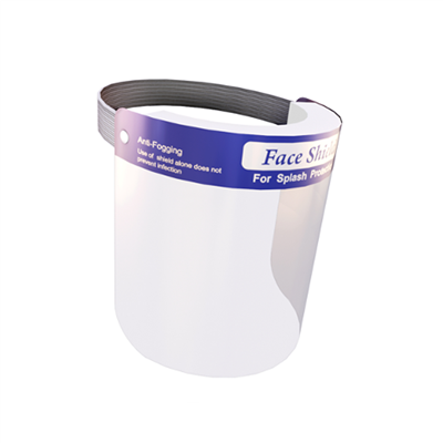 DISPOSABLE SINGLE-USE FACE SHIELD