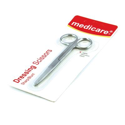 MEDICARE SHARP/ BLUNT DRESSING SCISSORS 14CM