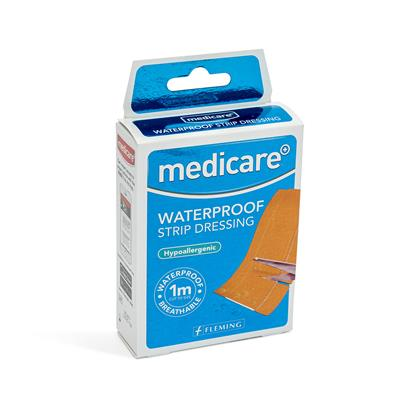 MEDICARE WATERPROOF STRIP 6CM X 1M (DISPLAY OF 10)