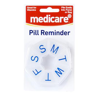 MEDICARE ROUND 7 SIDED WEEKLY PILL BOX
