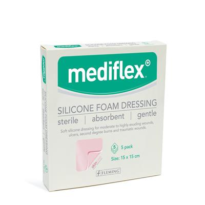 MEDIFLEX SILICONE FOAM DRESSING 15CM X 15CM (BOX OF 5)