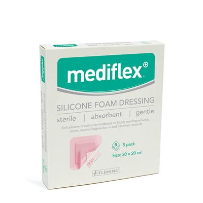 MEDIFLEX SILICONE FOAM DRESSING 20CM X 20CM (BOX OF 5)
