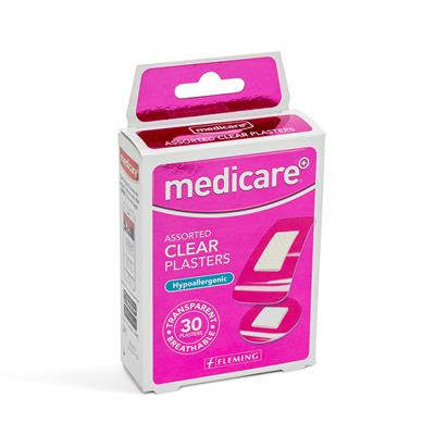 MEDICARE ASSORTED TRANSPARENT PLASTERS 30'S (DISPLAY OF 10)