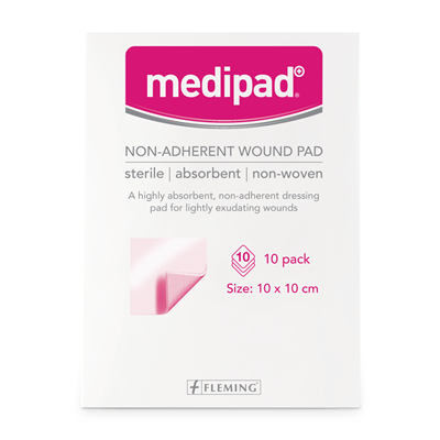 MEDIPAD STERILE NON ADHERENT PAD 5X5CM (BOX OF 10)