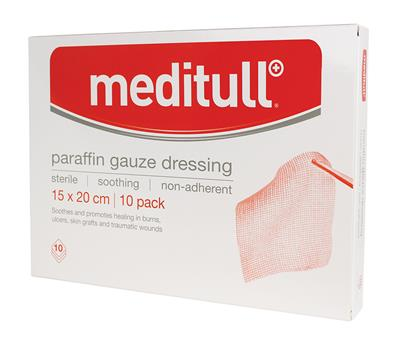 MEDITULL PARAFIN GAUZE DRESSING 15*20CM (BOX OF 10)
