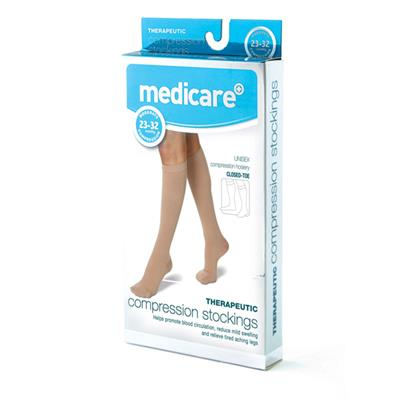 MEDICARE CLOSED TOE COMPRESSION STOCKINGS MEDIUM