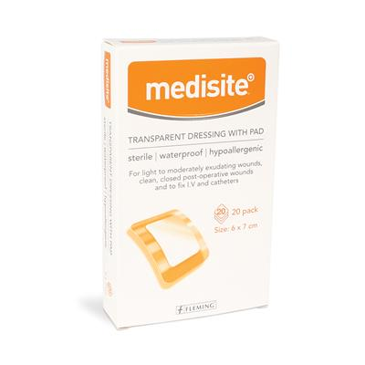 MEDISITE TRANSPARENT ISLAND DRESSING 6 X 7CM (BOX OF 20)