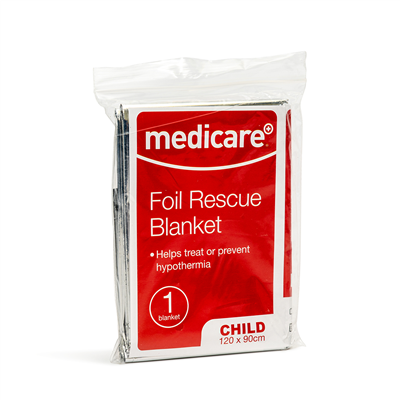 MEDICARE FOIL RESCUE BLANKET - CHILD 120 X 90CM