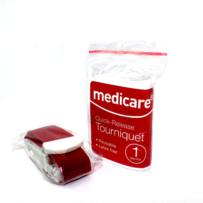 MEDICARE QUICK-RELEASE ELASTICATED TOURNIQUET FOR BLEEDING CONTROL