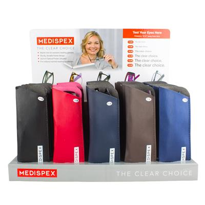 MEDISPEX READING GLASSES DISPLAY - 30 PAIRS