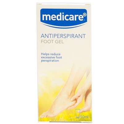MEDICARE ANTIPERSPIRANT FOOT GEL 50ML