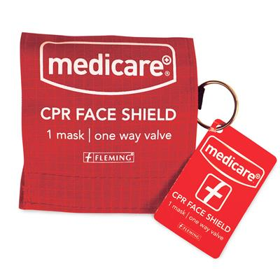 MEDICARE CPR BREATHING BARRIER ON KEY RING - SINGLE USE