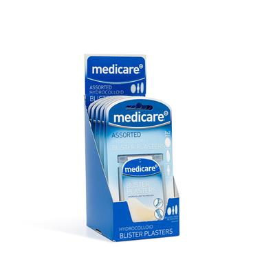 MEDICARE ASSORTED BLISTER PLASTERS 6s (DISPLAY OF 6)