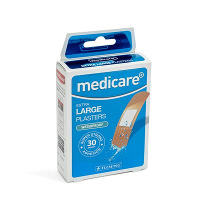 MEDICARE EXTRA LARGE WATERPROOF PLASTERS 30'S (DISPLAY OF 10)