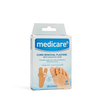 MEDICARE CORN REMOVAL PLASTERS WITH SALICYLIC ACID (8 PER BOX)