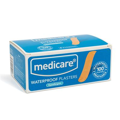 MEDICARE WATERPROOF PLASTERS 19X72MM 100's