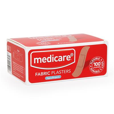 MEDICARE FABRIC PLASTERS 100'S