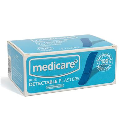 MEDICARE BLUE DETECTABLE PLASTERS 100'S