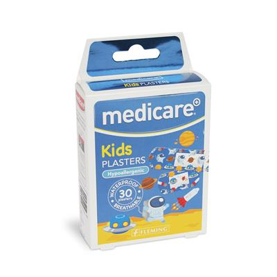 MEDICARE WATERPROOF KIDS PLASTERS 30`S (FUN SPACESHIP) (DISPLAY OF 10)