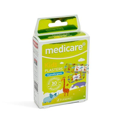 MEDICARE WATERPROOF KIDS PLASTERS 30`S (FUN ANIMAL PATTERN)