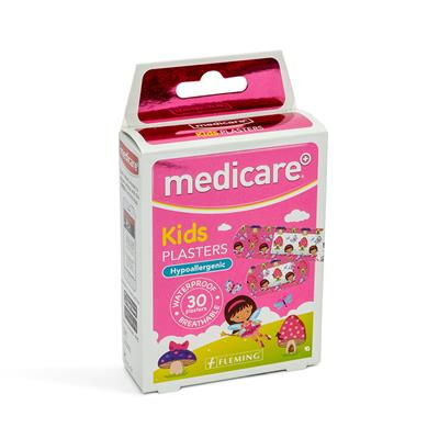 MEDICARE WATERPROOF KIDS PLASTERS 30`S (FUN FAIRIES PATTERN)