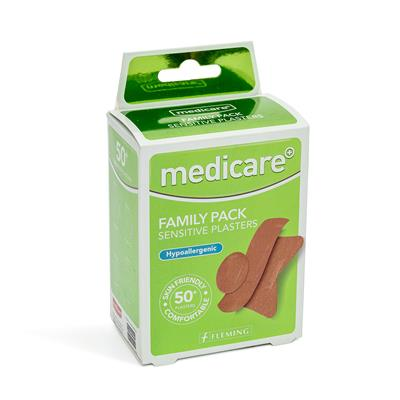 MEDICARE SENSITIVE FAMILY PACK OF 50+ PLASTERS